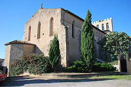 The church in Les Pujols