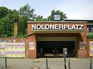 Berlin Nöldnerplatz station - Image: Eingang Bahnhof Noeldnerplatz