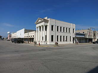 El Campo, Texas - Old business district along Monseratte Street