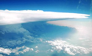 2013 El Reno tornado - The supercell thunderstorm which produced the El Reno tornado as viewed from above.