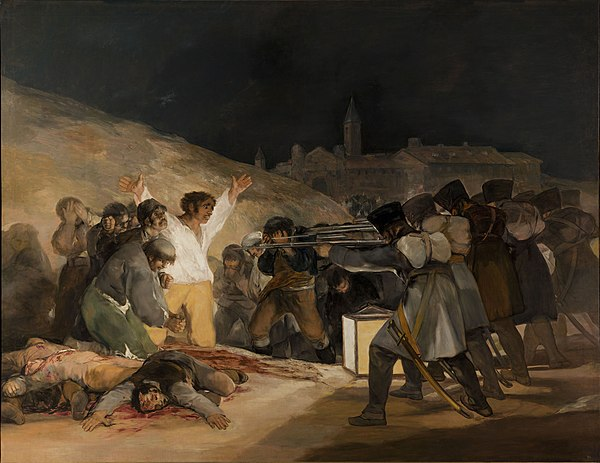 The Executions of the Third of May by Francisco Goya El Tres de Mayo, by Francisco de Goya, from Prado thin black margin.jpg