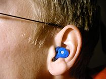 Example Of Custom Earplugs Worn By Professional Musicians