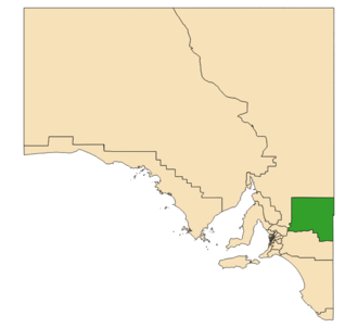 Electoral district of Chaffey - Electoral district of Chaffey (green) in South Australia