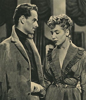 Frank Latimore - Elisa Cegani and Latimore in La nemica (1952)
