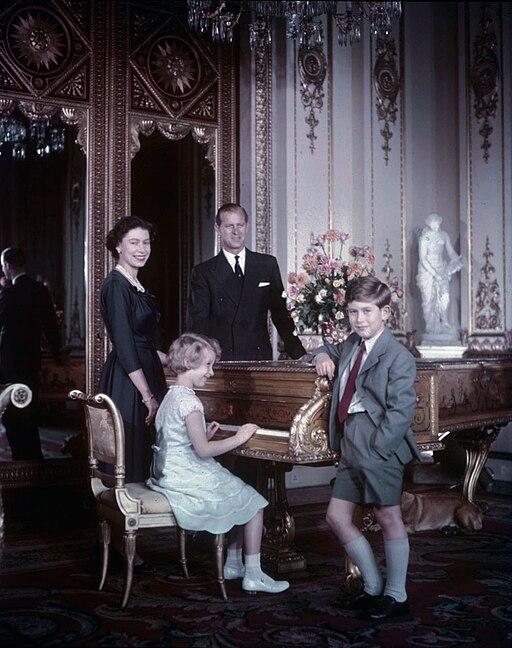 Elizabeth, Philip, Charles and Anne