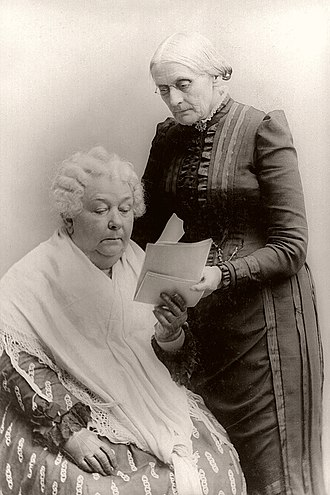 National American Woman Suffrage Association - Elizabeth Cady Stanton (seated) with Susan B. Anthony