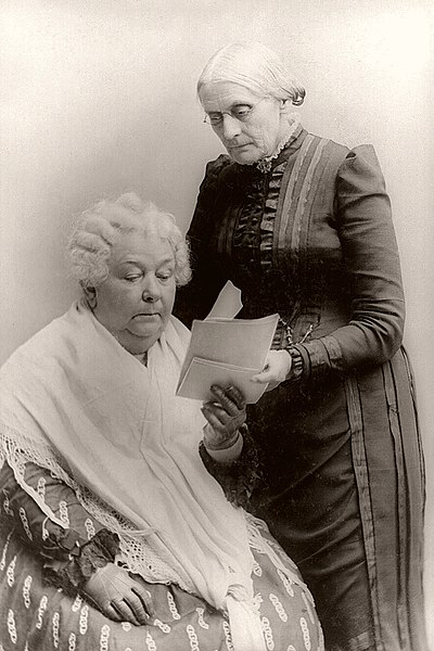 Susan B. Anthony and Elizabeth Cady Stanton. Elizabeth Cady Stanton and Susan B. Anthony.jpg