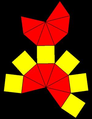 Elongated hexagonal bipyramid - Image: Elongated hexagonal bipyramid net