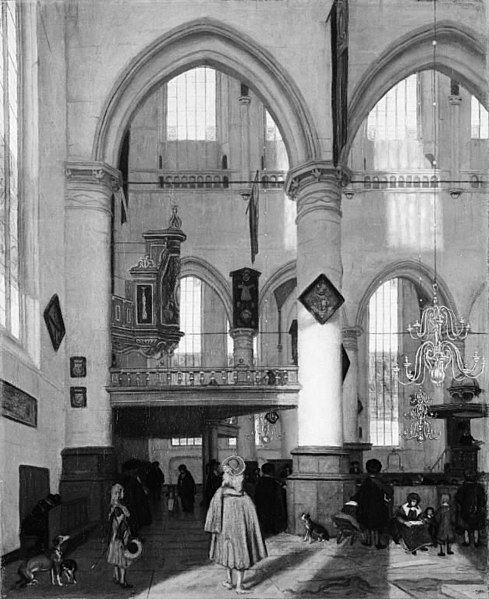 File:Emanuel de Witte - Interior of the Oude Kerk, Amsterdam, during a Sermon - KMS6320 - Statens Museum for Kunst.jpg