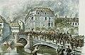 Emile Schweitzer-Le convoi funèbre du Colonel Fiévet passant sur le pont Saint-Guillaume.jpg