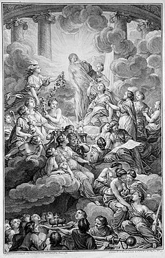 Le frontispice de l Encyclopédie de Diderot et d Alembert, gravure de  Benoît-Louis Prévost. f55d15d2475b