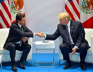 Mexico–United States relations - U.S. President Donald Trump meets with Mexican President Enrique Peña Nieto at the 2017 G20 Hamburg summit