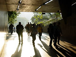Entering the Sao Bento Metro Station - Sao Paulo - Brazil.jpg