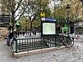 Entrée Station Métro Jacques Bonsergent Paris 5.jpg