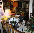 Entrance desk, Ngaio Marsh House, Christchurch, NZ, December 2005.jpg