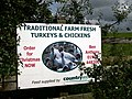 Entrance to Waun Fawr Traditional Farm Fresh Turkeys and Chickens. - geograph.org.uk - 1430642.jpg