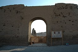 Entrance to the Tomb of Montemhat (TT34) in 2006.jpg