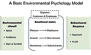 Servicescape - A simplified environmental psychology model