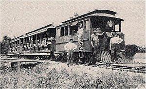 Ludington and Northern Railway - Epworth League Railway, ca 1895