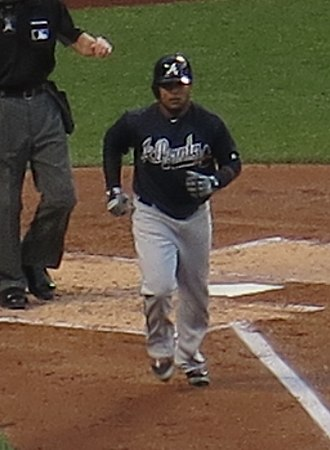 Erick Aybar - Aybar with the Atlanta Braves in 2016