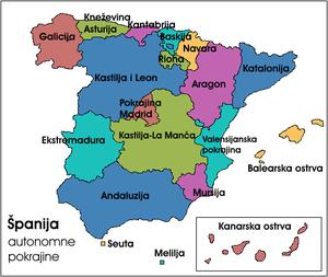 Аутономне покрајине Шпаније
