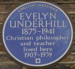 Evelyn Underhill 50 Campden Hill Square blue plaque.jpg