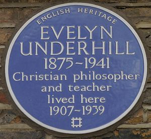 Evelyn Underhill - Blue plaque, 50 Campden Hill Square, London