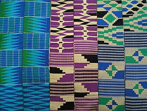 Ewe people - Image: Ewe kente stripes, Ghana