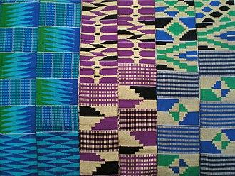 Ewe people - Image: Ewe kente stripes, Ghana