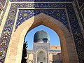 Exterior View through Portico of Gur-e-Amir Mausoleum - Samarkand - Uzbekistan (7488485246).jpg