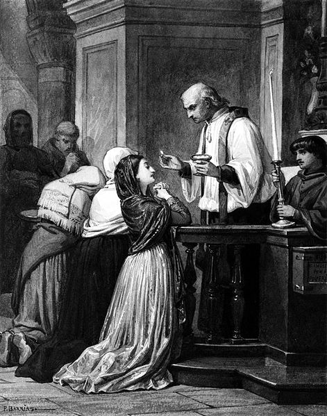 File:Félix-Joseph Barrias - Woman Receiving the Eucharist - Walters 371343.jpg