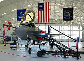 F-35 AA-1 (front-view) on display at Eglin.jpg