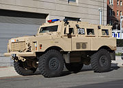 FBI Mine Resistant Ambush vehicle