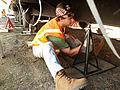 FEMA - 33783 - FEMA contractor installs a pier for a mobile home in California.jpg