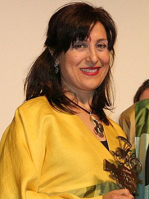 Fatemeh Motamed-Arya - Image: Fatemeh Motamed Arya at Cyclo d'or d'honneur 2010 (cropped)