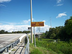 Anclote River - Image: Father Felix Ullrich Bridge sign
