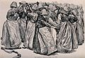 Female convicts working fire pumps. Lithograph. Wellcome V0041244.jpg