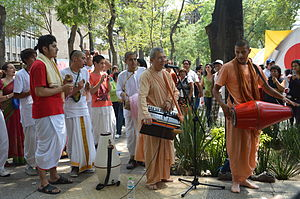 Hinduism in Mexico - Hare Krishna musicians in Mexico City