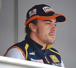 Fernando Alonso at the 2009 Australian Grand Prix.