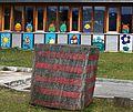 Festmeter in Arriach, Bezirk Villach-Land vor dem Kindergarten.jpg