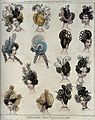 Fifteen heads of women wearing fashionable head-dresses and Wellcome V0019869.jpg