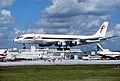 Fine Air DC-8F-54; N44UA@MIA, January 1994 AYH (4848070407).jpg