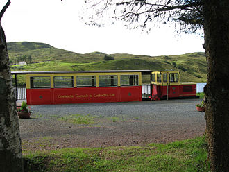 3 ft gauge railways - Fintown station on the trackbed of the County Donegal Railways Joint Committee (CDR) in County Donegal