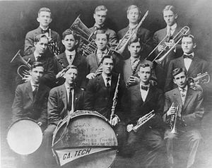 Georgia Tech Yellow Jacket Marching Band - Founded in 1908, the first band at Georgia Tech had only 14 members.