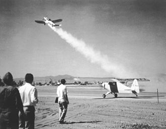 March Air Reserve Base - The first JATO take-off, by an ERCO Ercoupe fitted with a GALCIT booster, in 1941, performed at March Field