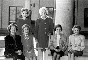 First Ladies Lady Bird Johnson, Pat Nixon, Ros...