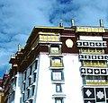 Five Dhvajas, Potala White Palace.jpg
