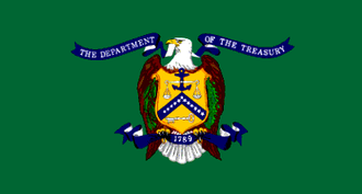 History of the flags of the United States - Image: Flag of the United States Department of the Treasury