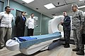 Flickr - Official U.S. Navy Imagery - Capt. David Weiss describes the capabilities of a CT scan machine to Guatemalan President Alvaro Colom..jpg