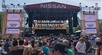 Bunbury Music Festival - The main stage at Bunbury 2017